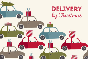 Spesial christmas delivery vector Illustration