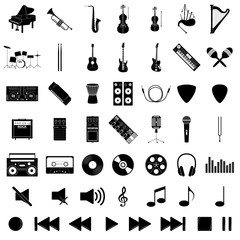 Musical instrument set, vector illustration