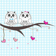 Newborn twin baby with owl baby shower greeting card