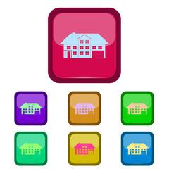 Real estate vector logo on a button