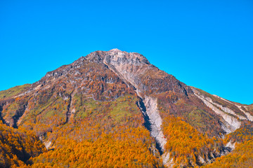 秋の上高地 焼岳
