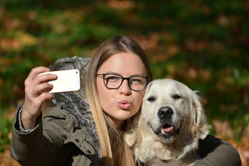 Selfie with dog
