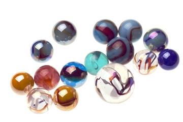 vintage marbles isolated