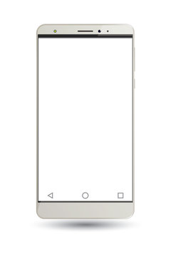 Vector cell phone on white background.
