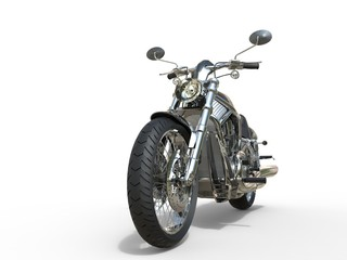 Powerful Vintage Motorcycle