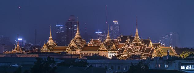 Fototapete - Grand palace panorama in Bangkok