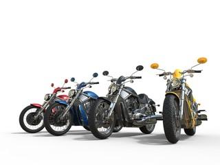 Row of cool vintage bikes