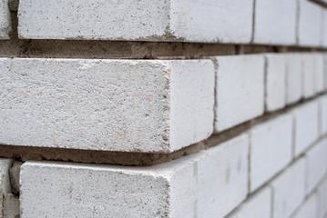 white brick wall corner as background