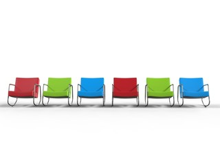 Primary colors armchairs