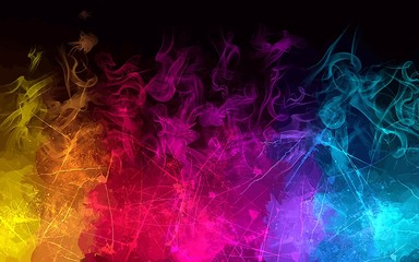 Rainbow smoke background. Vector version