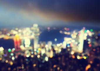 blured lights from peak Victoria, Hong Kong