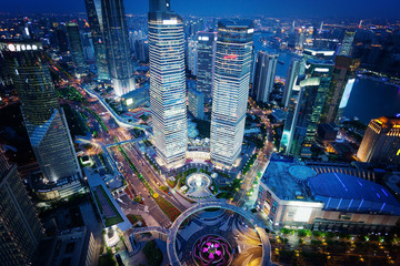 Shanghai night view, China