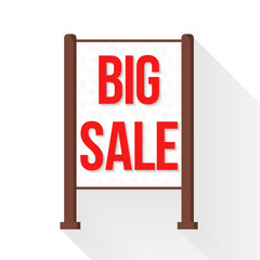 Vector flat big sale stander or  ground sign