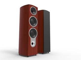 Dark rosewood speakers