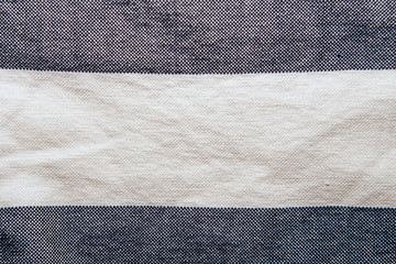striped linen and cotton cloth texture background