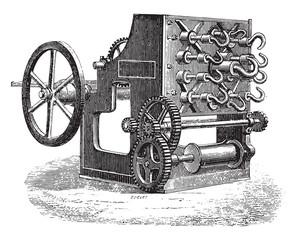 Spinner wholesale, vintage engraving.