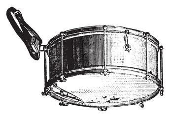 Tarole rods, vintage engraving.