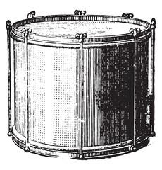 Snare drum rods, vintage engraving.