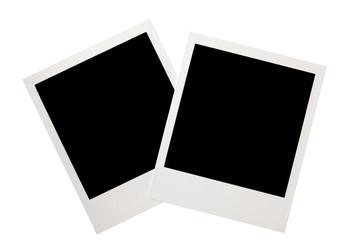vintage polaroid snapshot isolated on white background