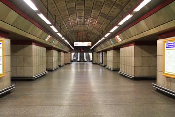 Prague subway station
