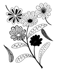 Set of flower doodles flower