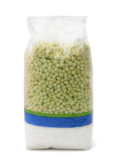 Dried peas plastic packet
