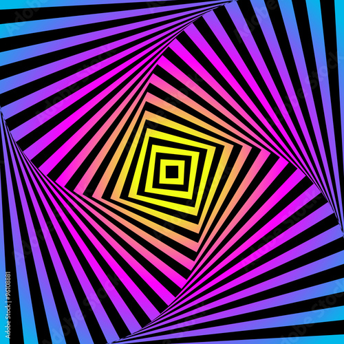 """""""Abstract optic illusion - colorful background. Cmyk ..."""