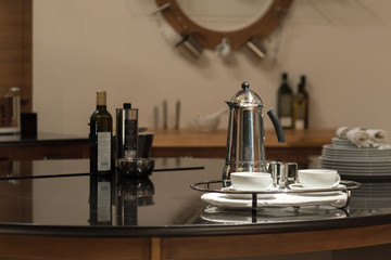 Metal Cafetiere Coffee Set