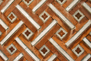 Texture of traditional korea brick wall