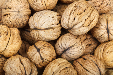 Macro of walnuts for background