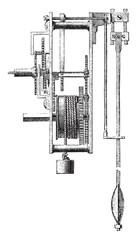 Method of regulating a balance wheel, vintage engraving.
