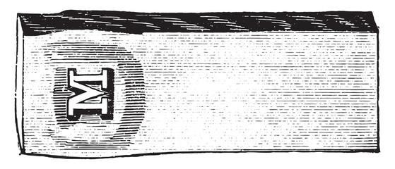 Impression, vintage engraving.