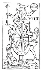 Map a set of Italian tarot cards, the game of Minchiate (Nationa
