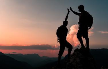zirve macerası ve başarısını kutlamak