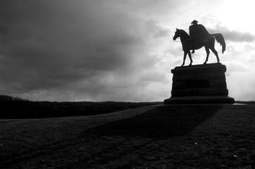 Equestrian Statue Silhouette