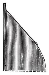 Ploughshare Valcourt tip, vintage engraving.
