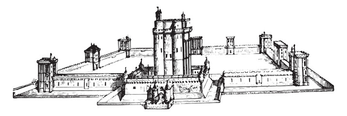Chateau de Vincennes as it was still in the seventeenth century,