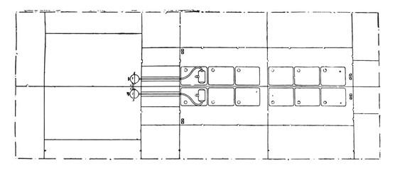 Evaporative unit of a leading armor, vintage engraving.
