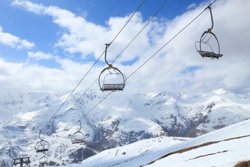 Ski lift in France - Valloire