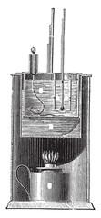 Device Parrish, vintage engraving.