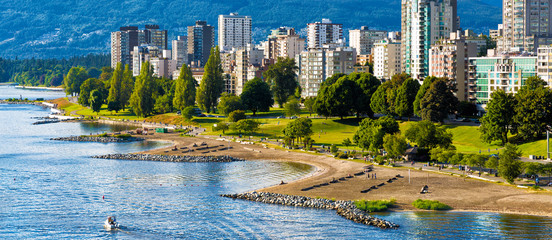 Vancouver beaches panorama, aerial view Fotomurales