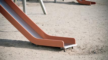 Empty children's slide