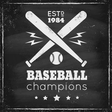 Vintage logo for basebal