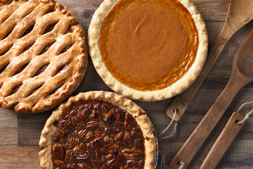 Pecan Apple and Pumpkin Pies