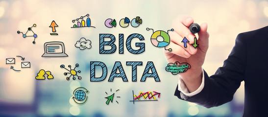 Businessman drawing Big Data concept