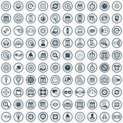 time 100 icons universal set