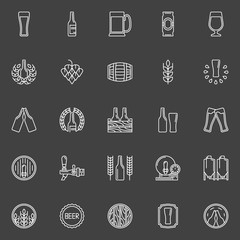 Brewery and beer icons