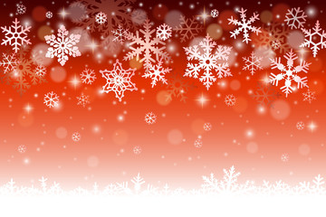 Christmas winter background with snowflakes and snow