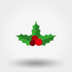 Holly berry. Christmas symbol.