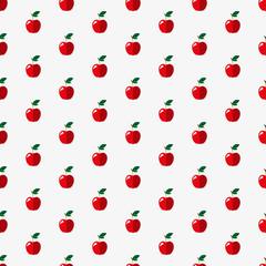 Apples seamless pattern.
